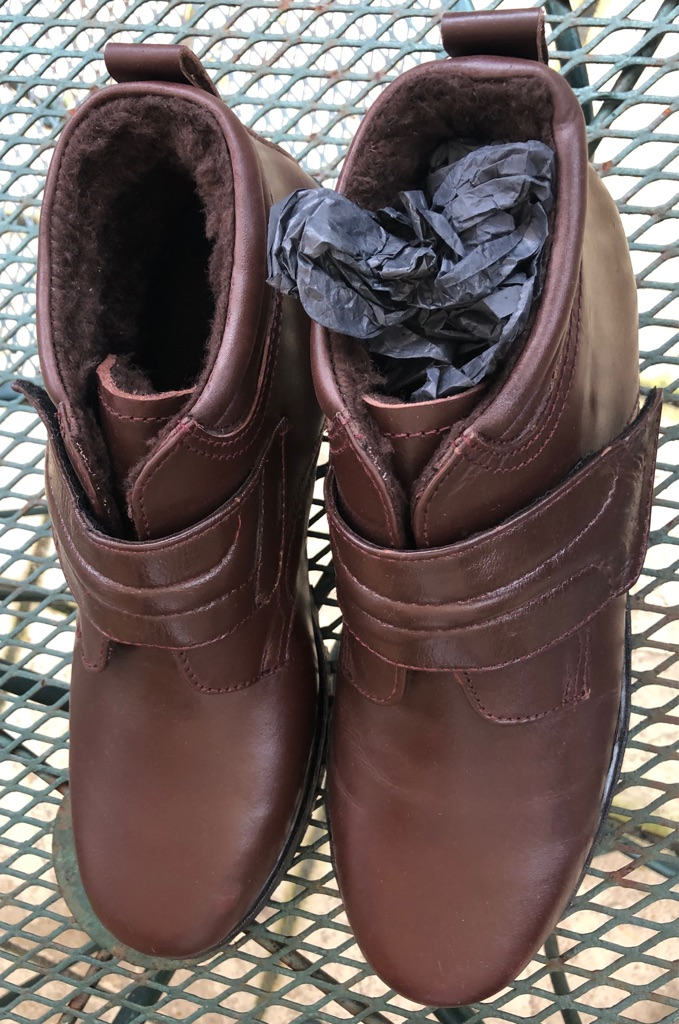 Brand New In Box Size 12 Men's Fur Lined Brown Leather Smart Boot