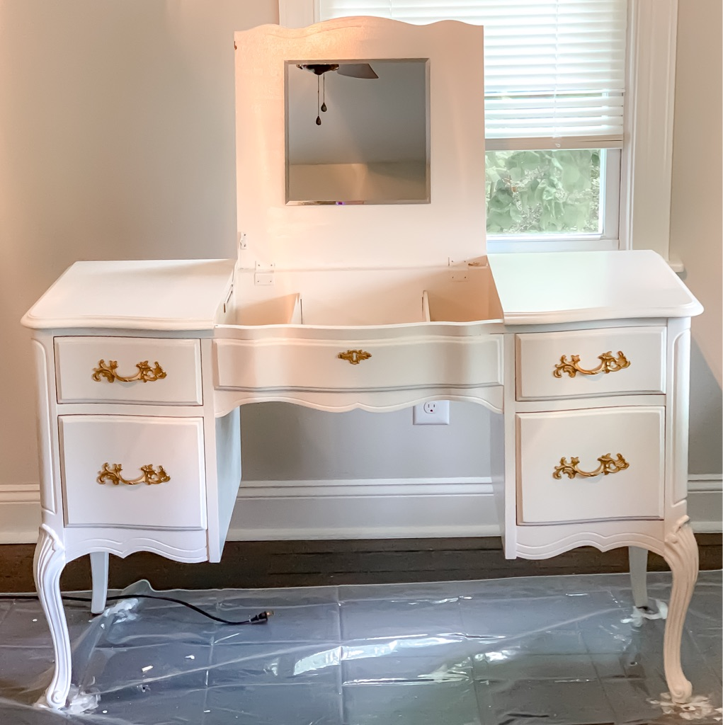 PENDING PICKUP French Provincial Vanity (NEWLY REFINISHED)
