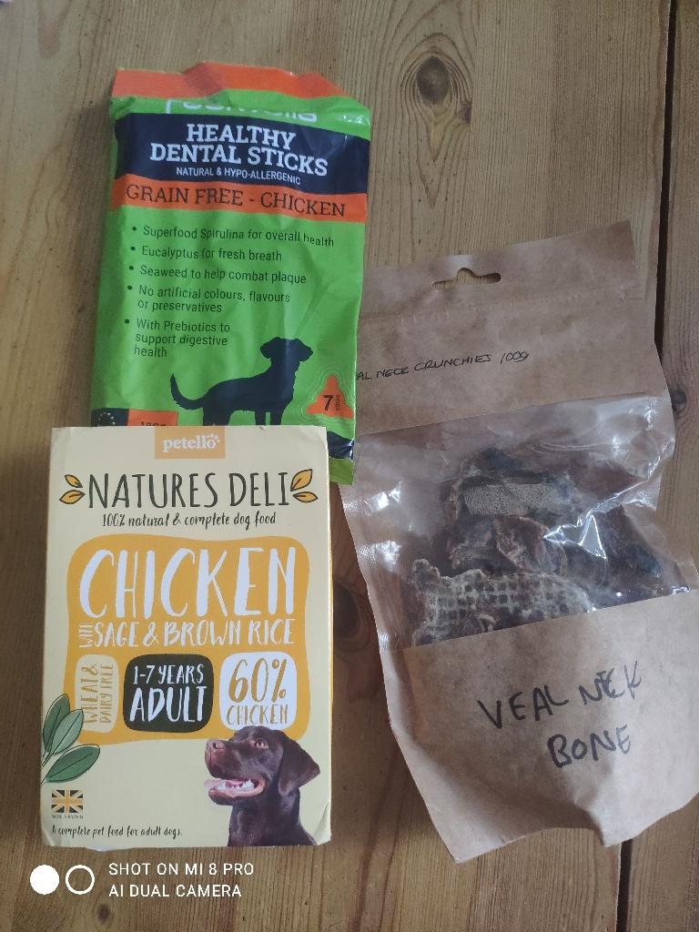 Dog puppy food and dog treats