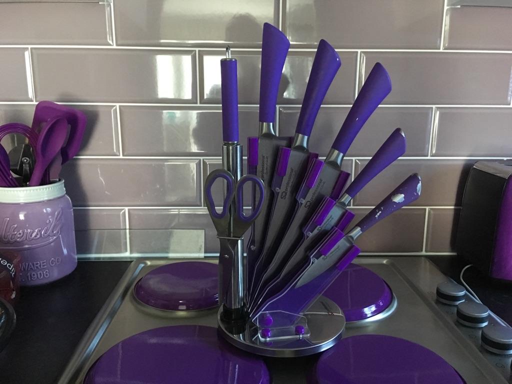 Kitchen knives plus kitchen utensils