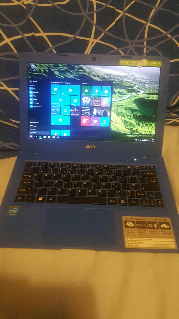 Aspire one Cloudbook 11 model A01-131-c726 notebook/ 32gb/ WiFi/ for sale or swaps