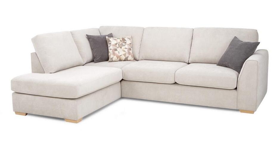 Cream L shaped sofa