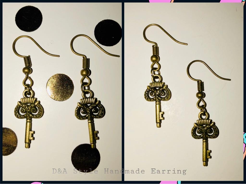 Handmade Antique Key Earrings Owls 🦉