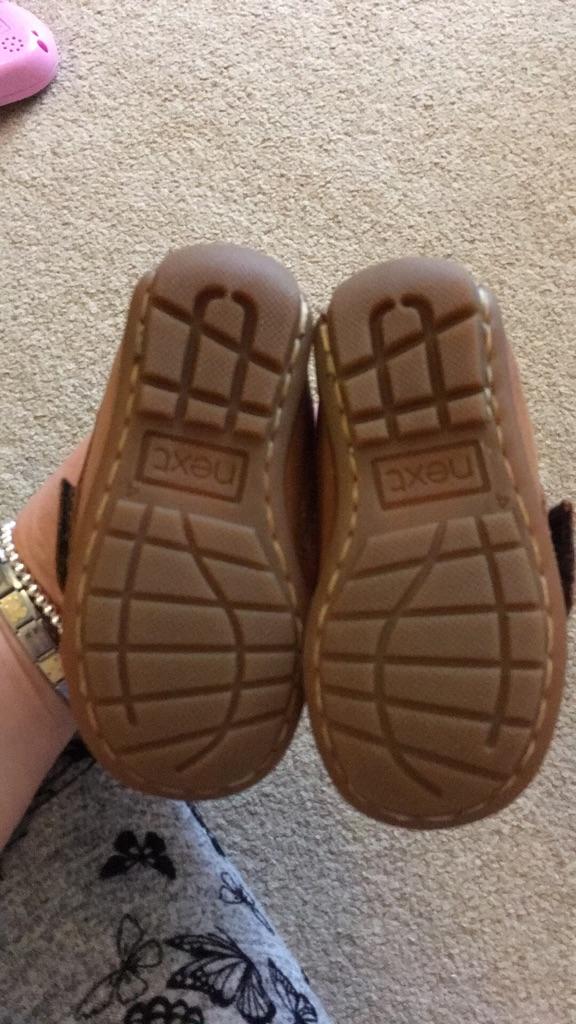 Infant size 4 leather next shoes