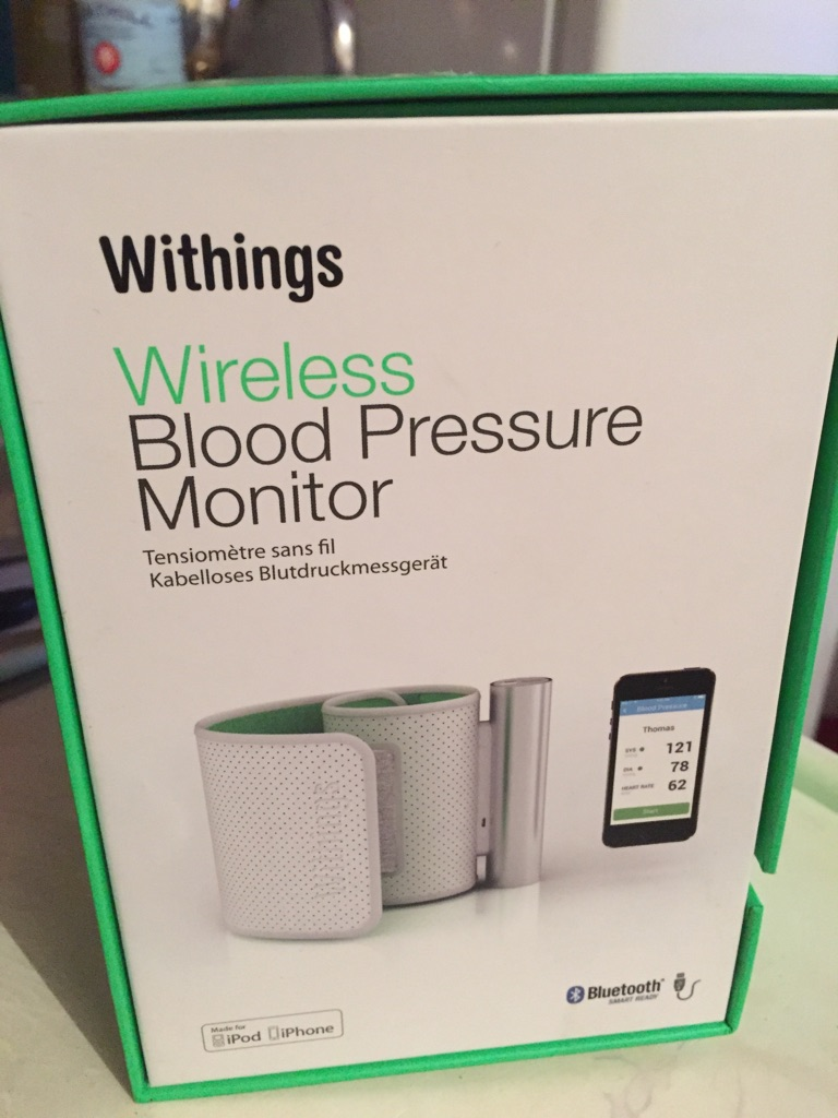 Withings wireless blood pressure Monitor.