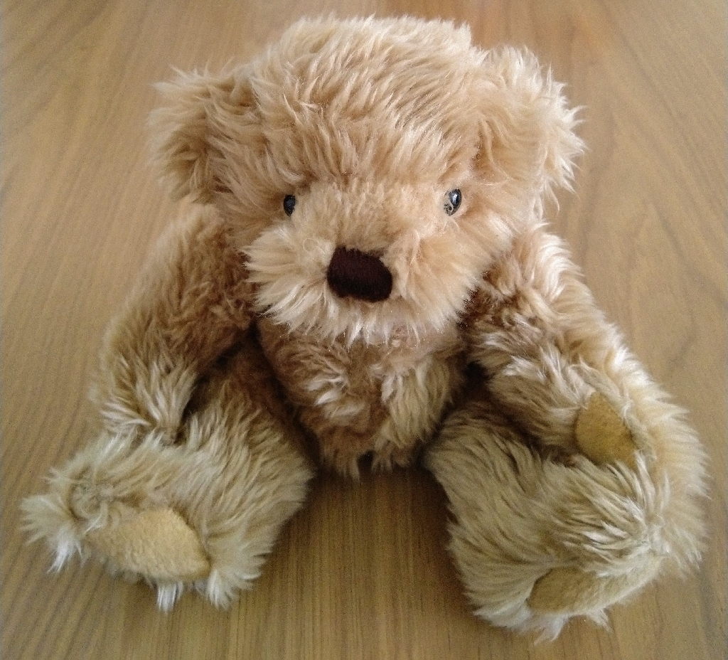 """10"""" Brown Fluffy Teddy Bear - Moveable Arms & Legs"""