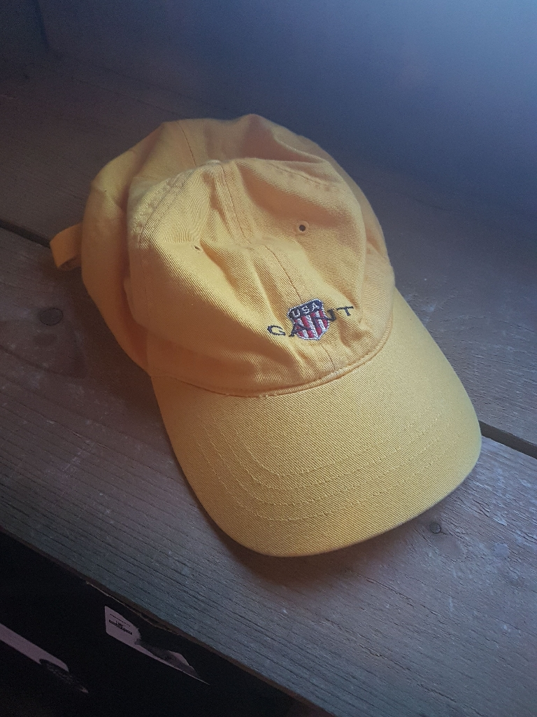 Yellow Mens Gant Baseball Cap