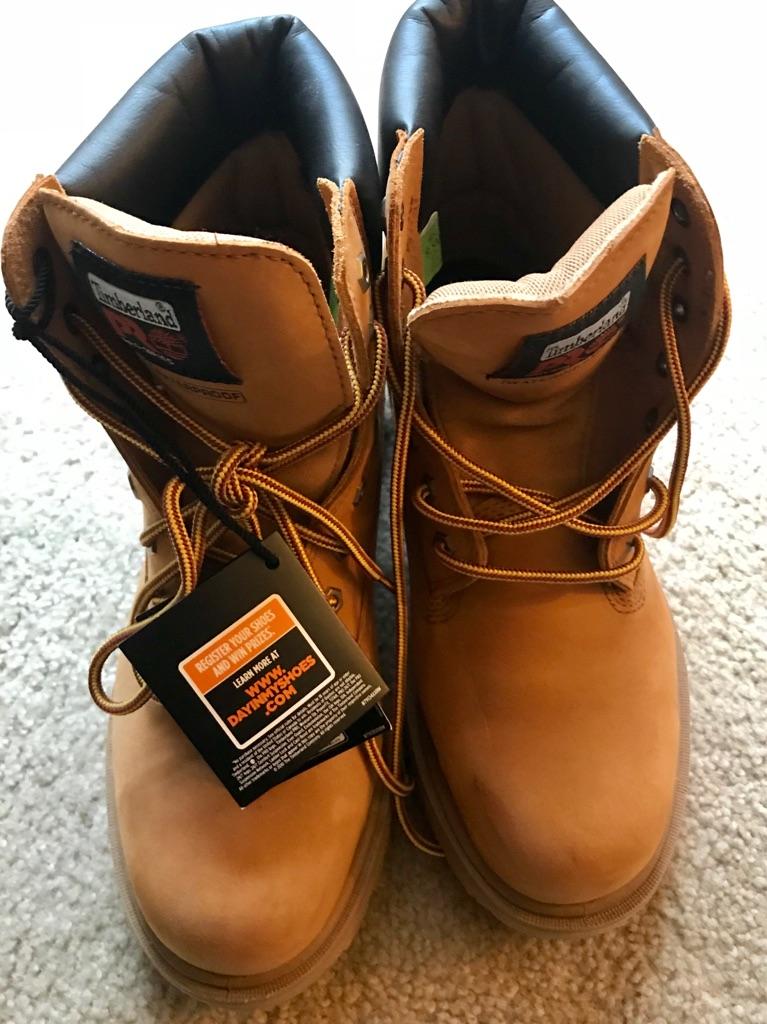 Timberland work boots/ steel toe/ waterproof; Size 9.5 M