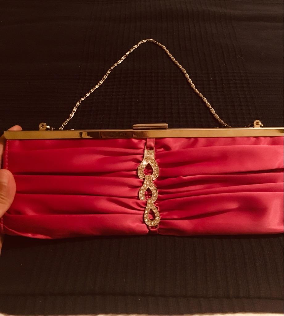 Hot pink evening purse