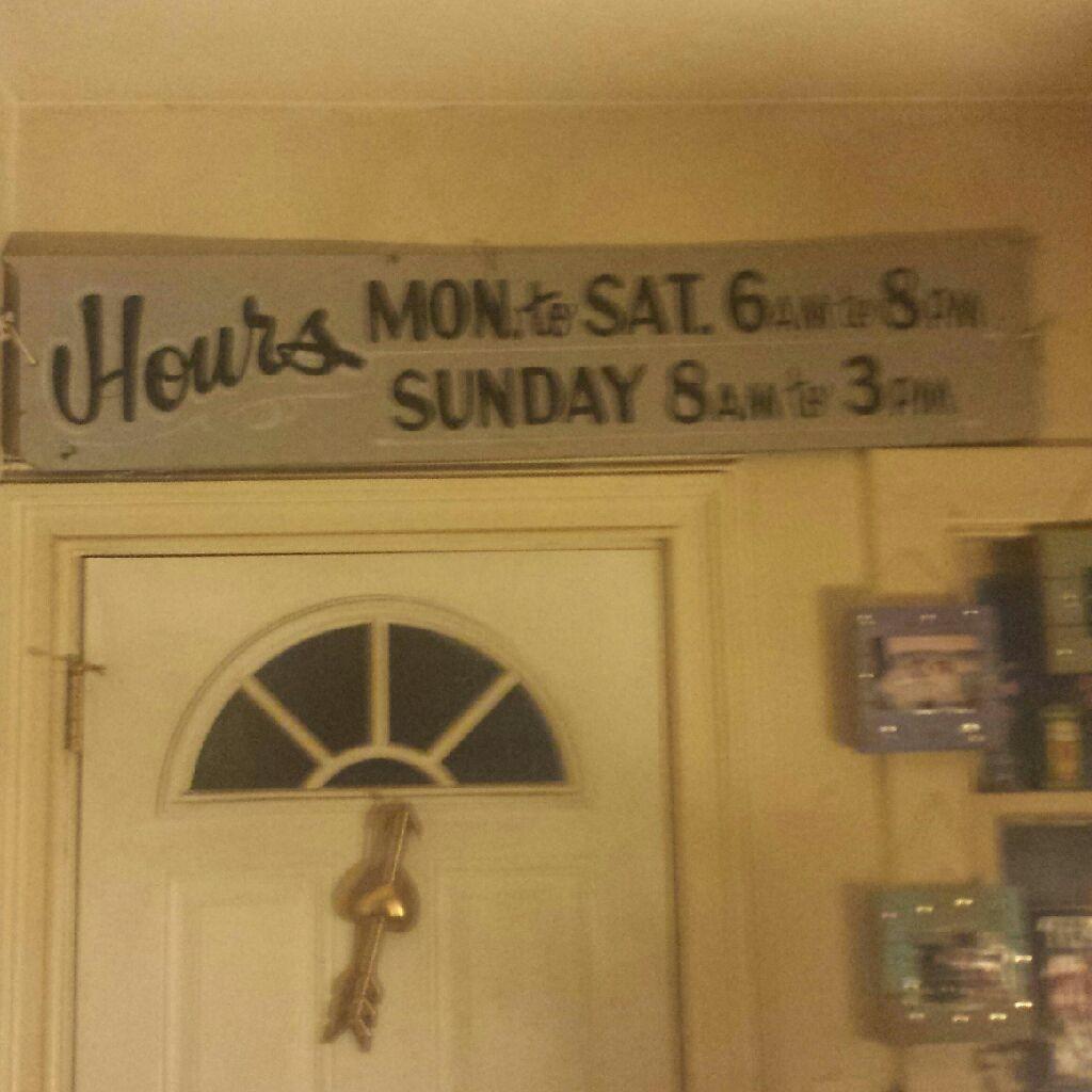 Big vintage sign