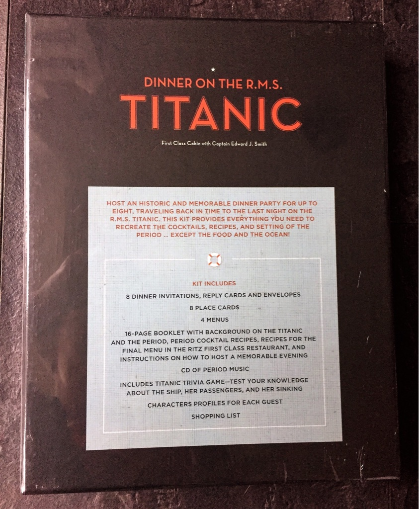 TITANIC DINNER PARTY GAME