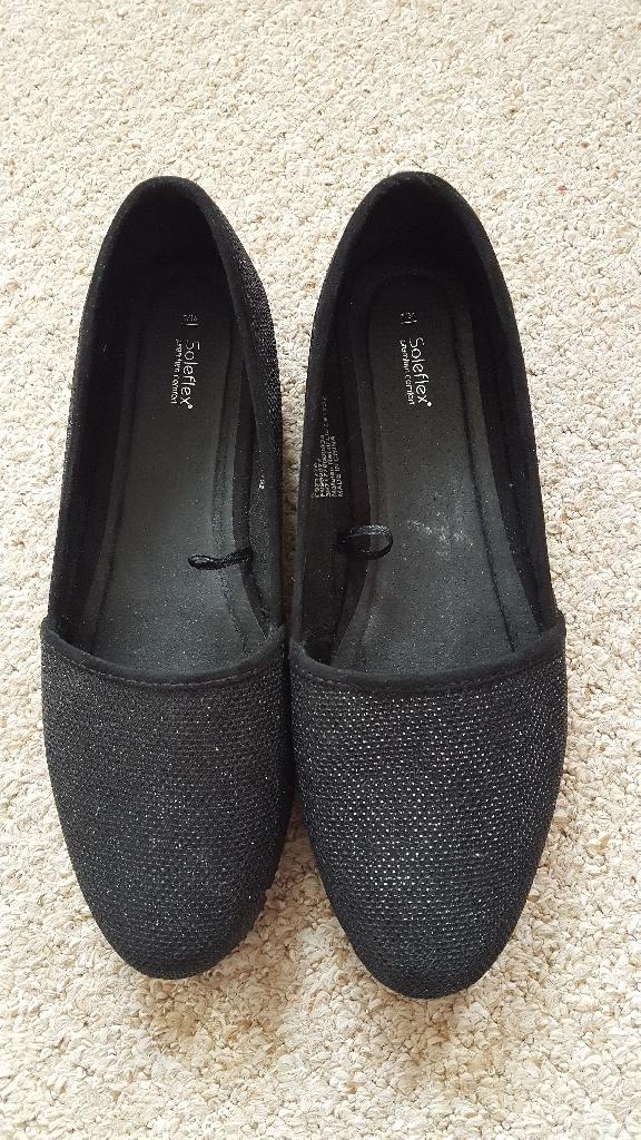 Soleflex glimmer black shoes