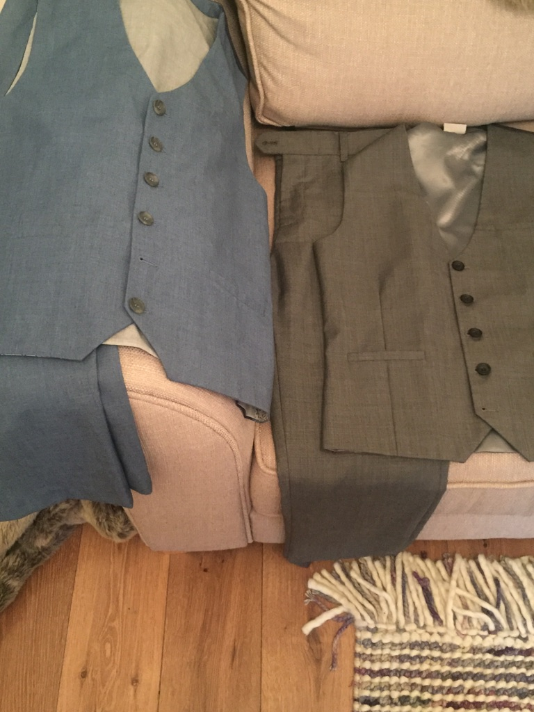 Next trousers and waistcoats
