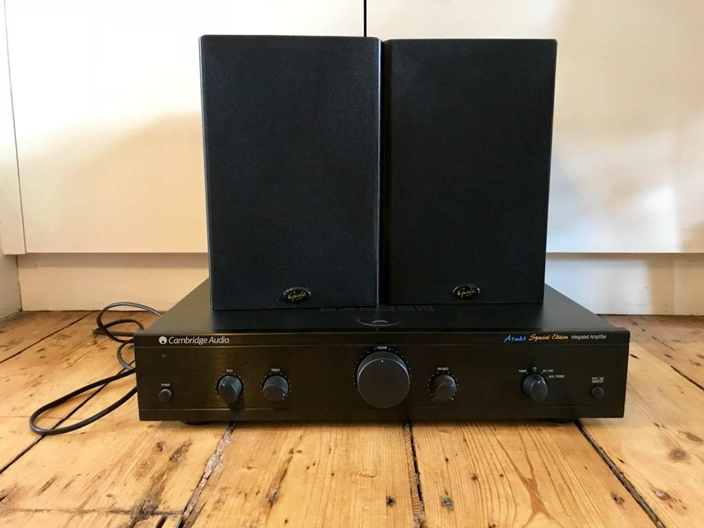 Cambridge Audio A1mk3 Amplifier and two Gale Book Speakers