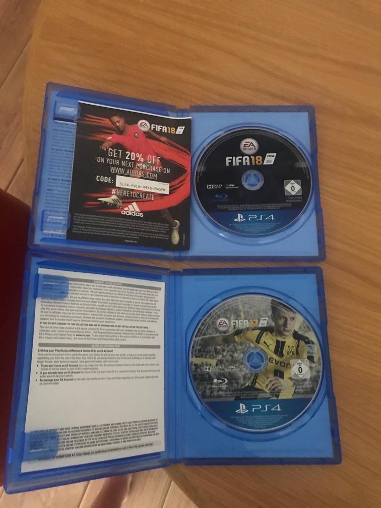 PS4 Fifa 18 & Fifa 17