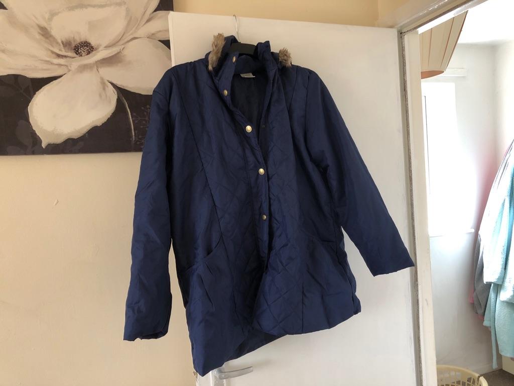 Large size coat blue