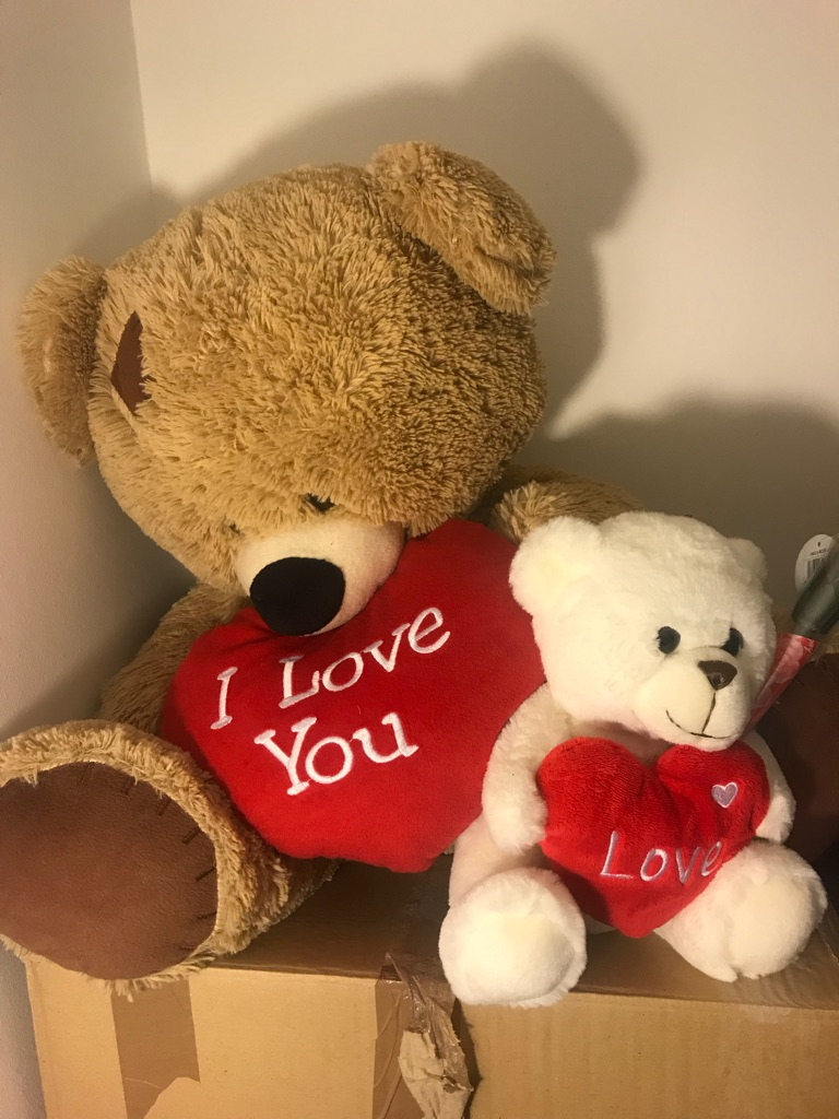 Two Valentines Love Teddy's As New
