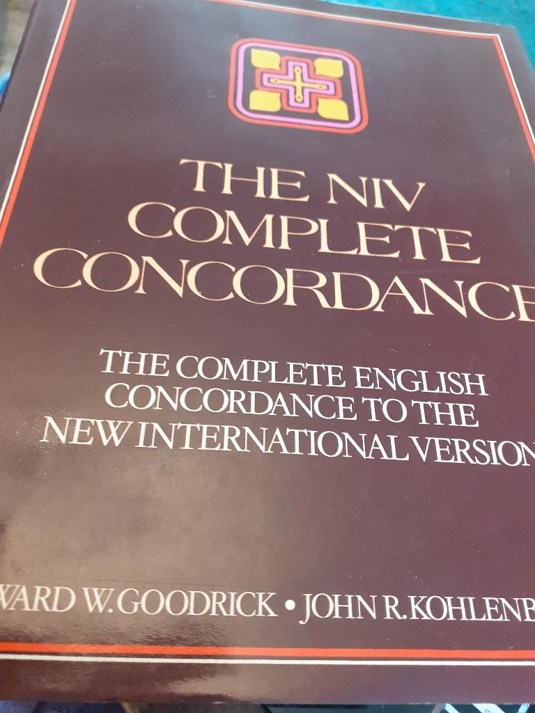 The NIV Complete Concordance book