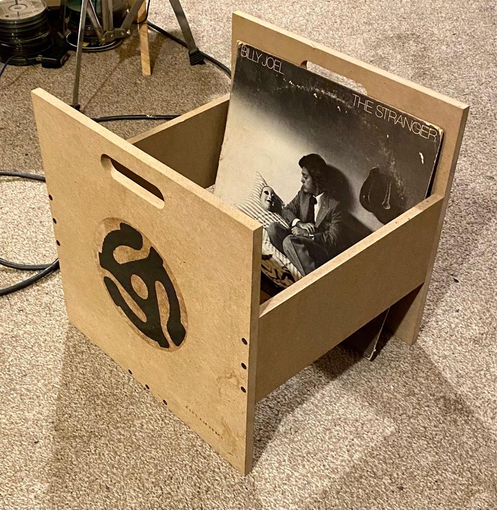 3 Record crates