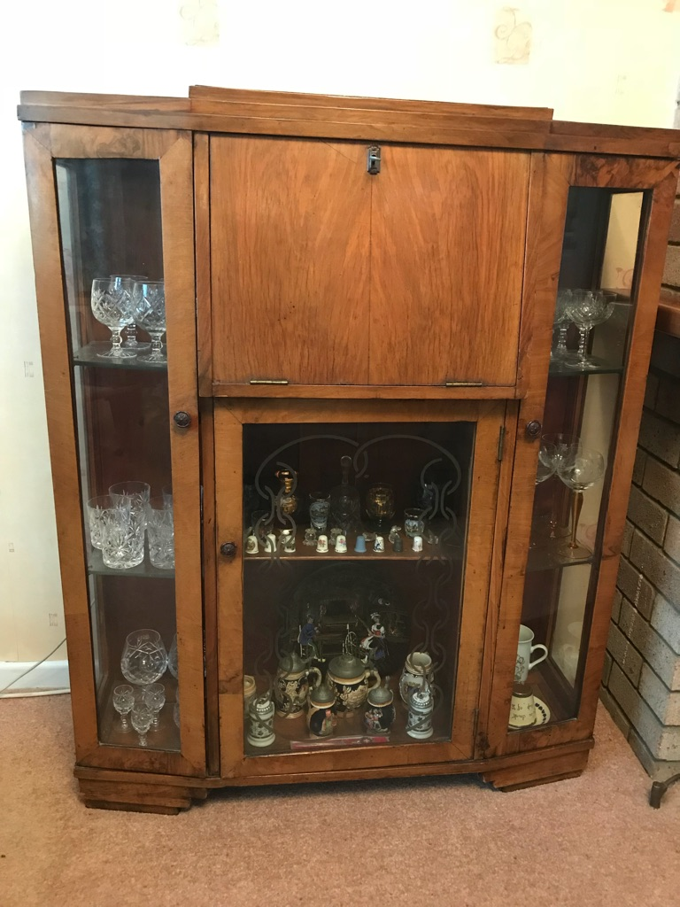 Vintage China and glass cabinet/ bureau