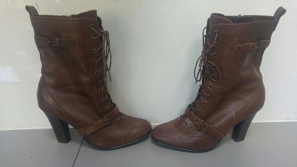 Brown leather boots size 6 Autograph by m&s
