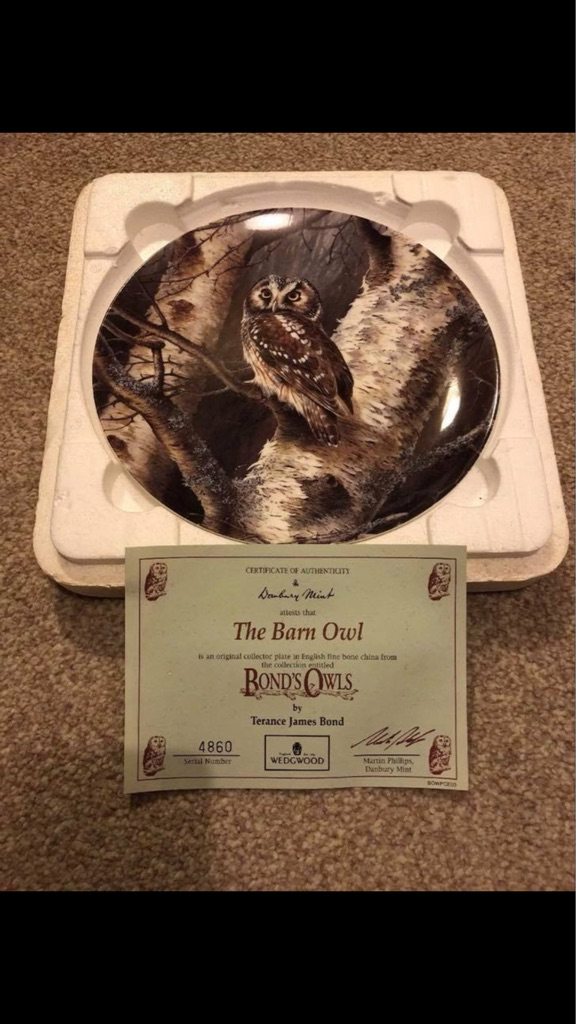 Collectable Plates - Bond's Owls