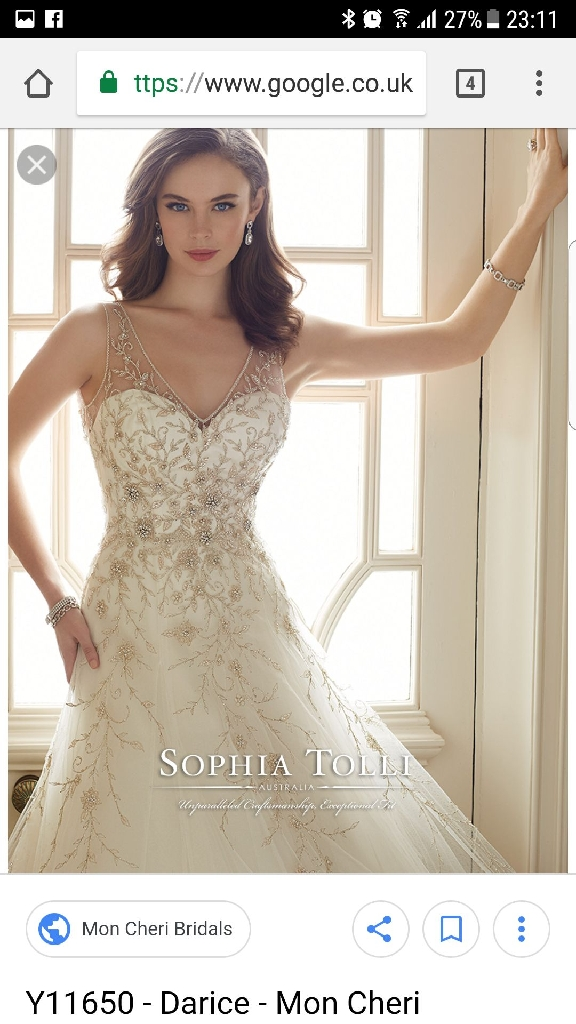 Sophia tolli wedding dress ivory