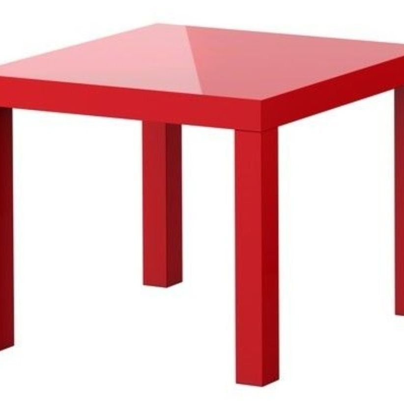 Ikea high gloss red table, 55 x 55 cm