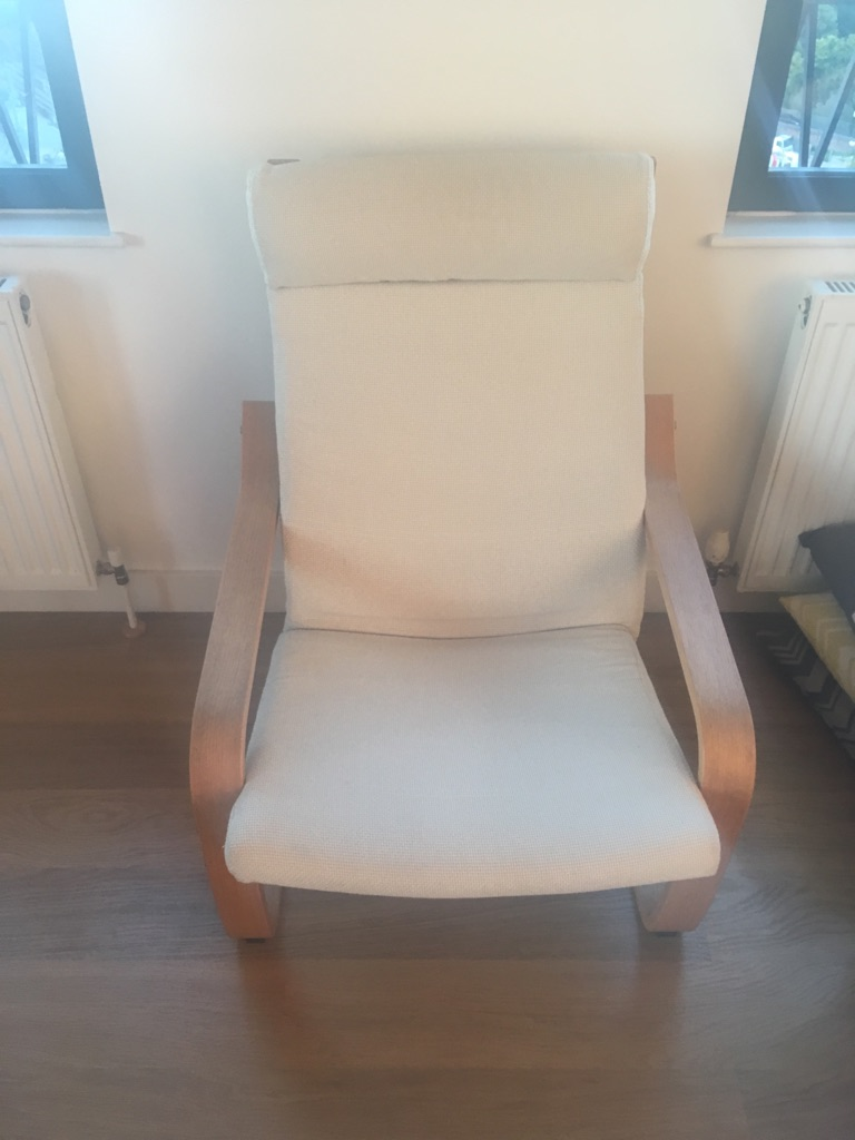 Poang Ikea cream chair