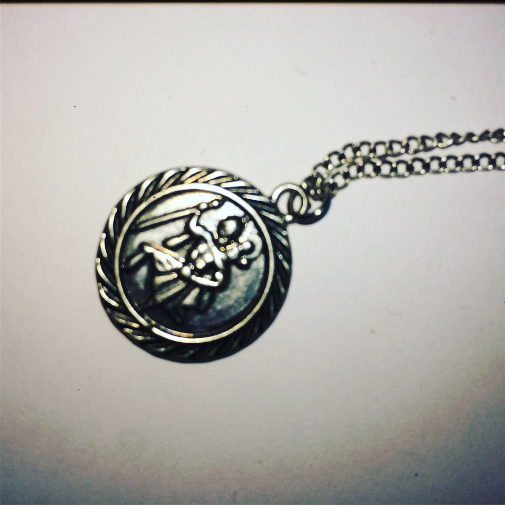 Gladiator Engraved Coin Design Necklace
