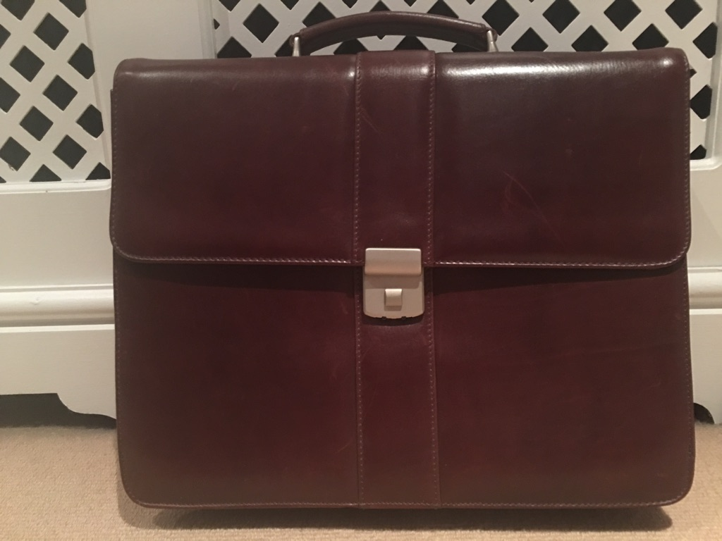 Leather filefolder bag