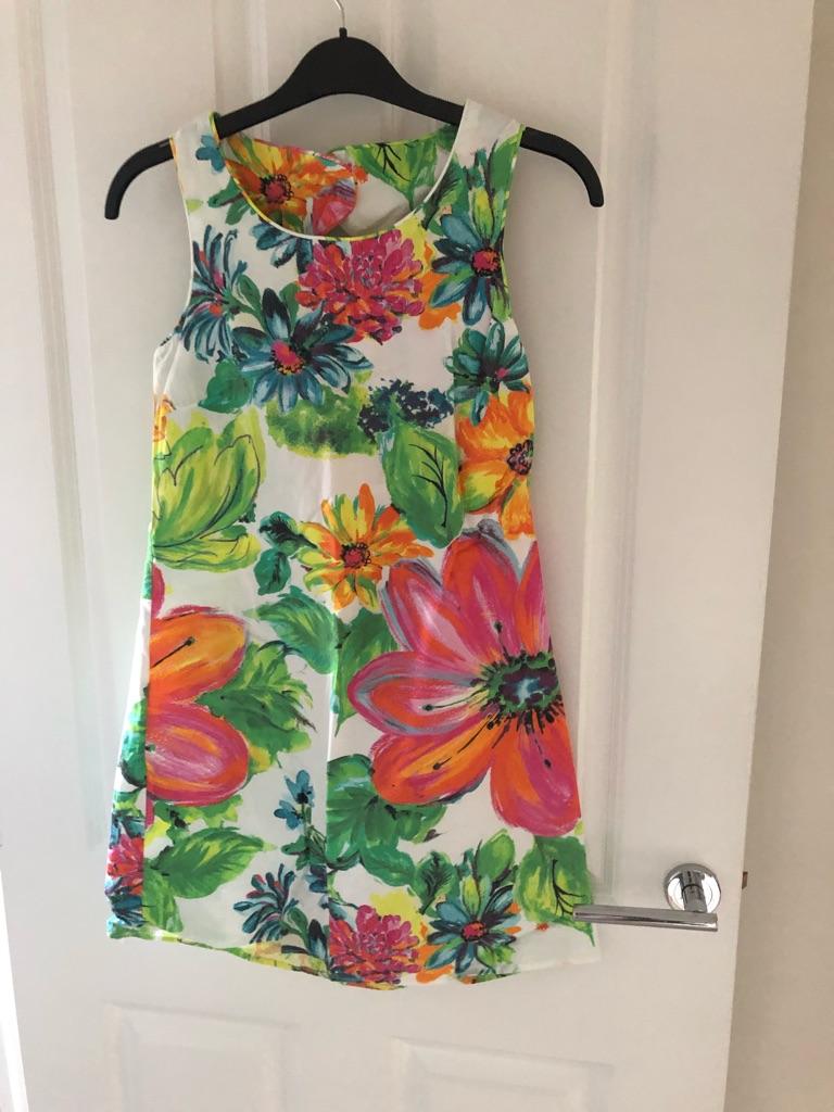 Beautiful girls vibrant floral dress