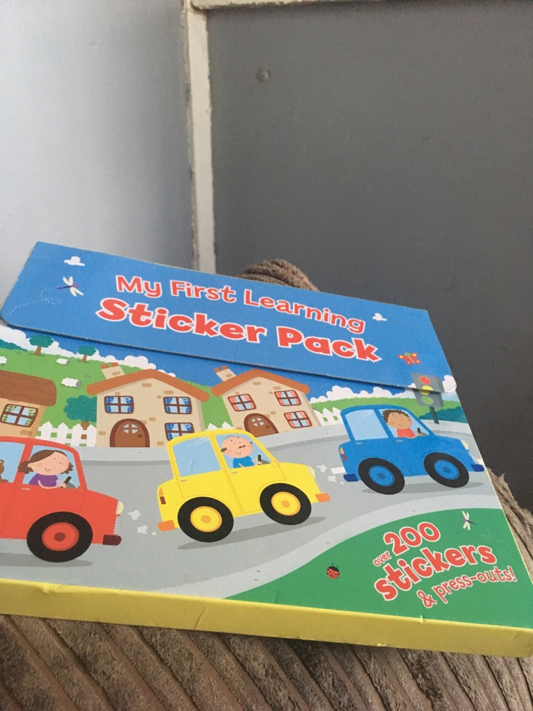 My first learning sticker book
