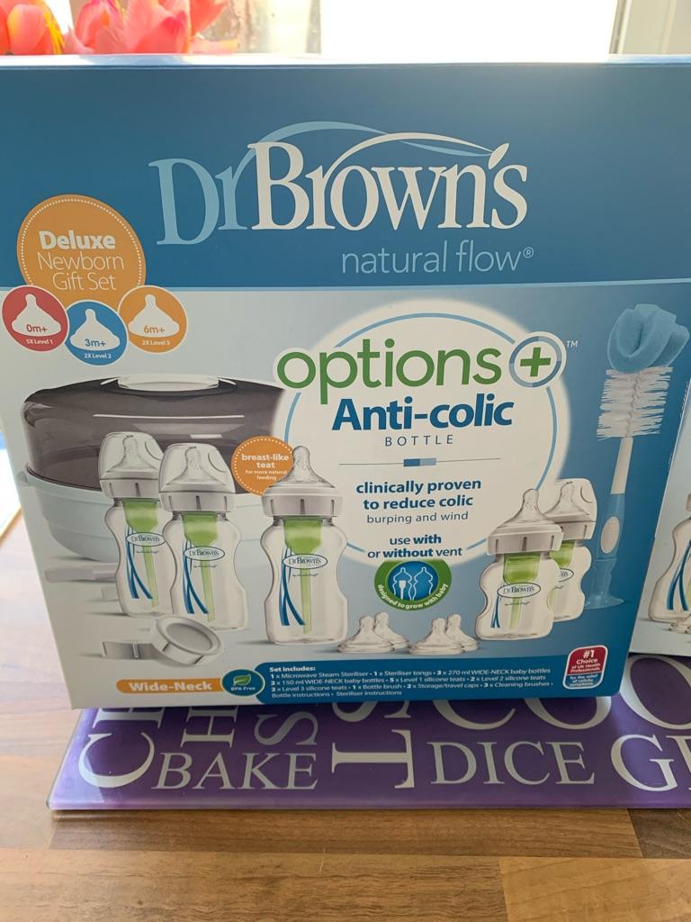 Dr brown bottle and steriliser set