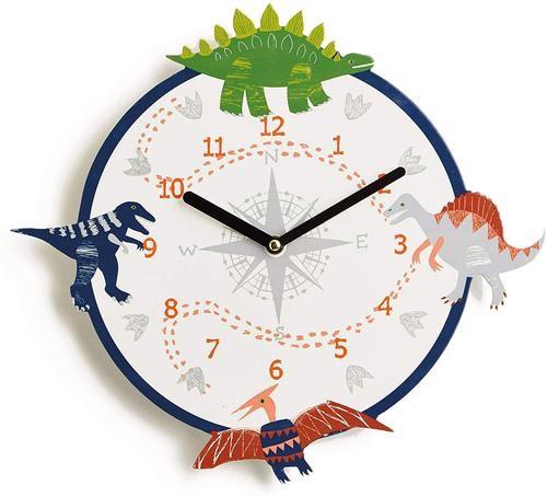 Arthouse imagine fun 34cm dino doodles clock