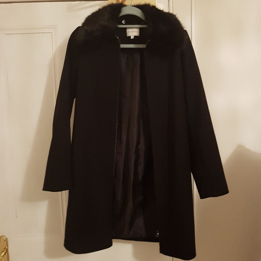 Warehouse black coat size 6