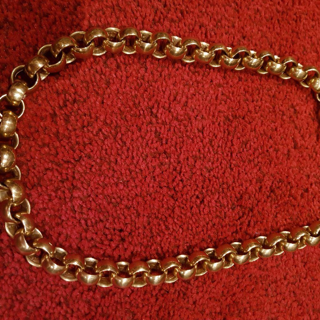 9ct heavyweight belcher chain