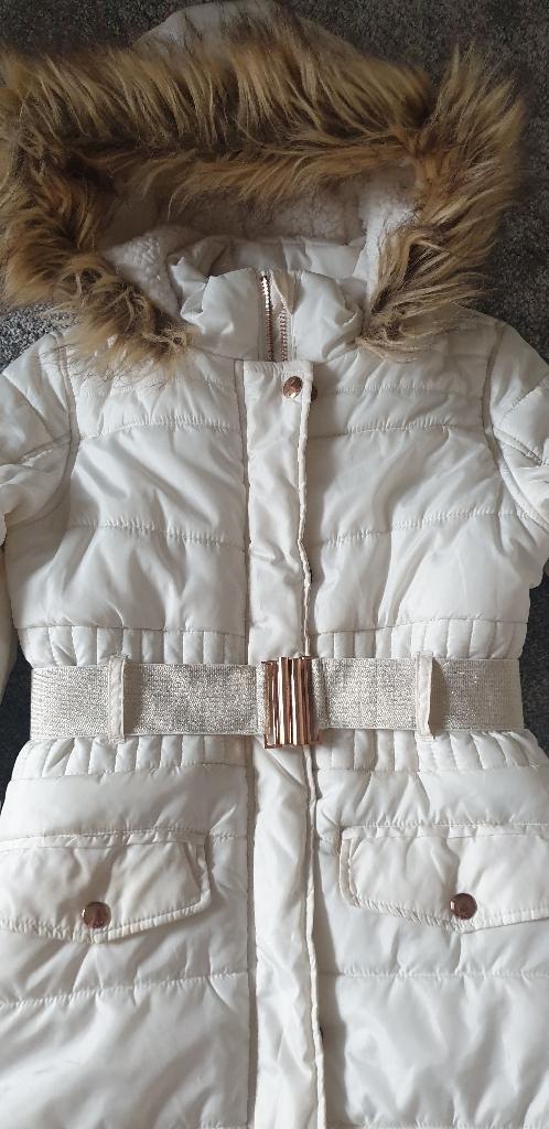 Girls cream/rose gold coat