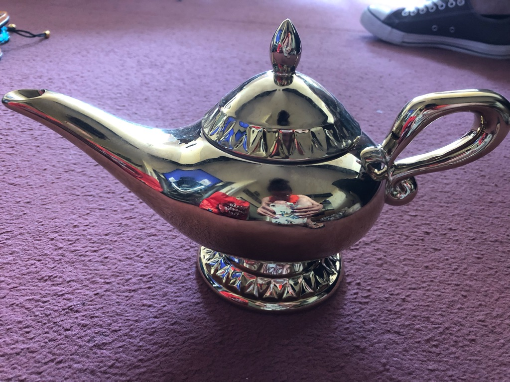 Gold Aladdin themed teapot