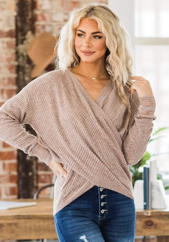 Knitted wrap top 20% off using my code below ⬇️