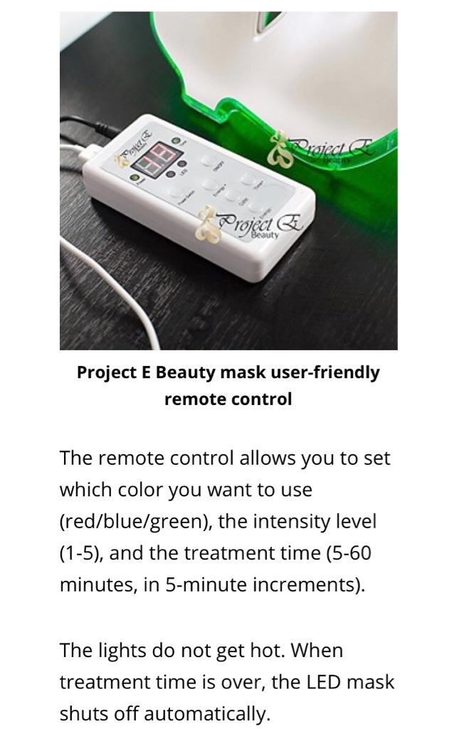 Beauty By Light LED mask