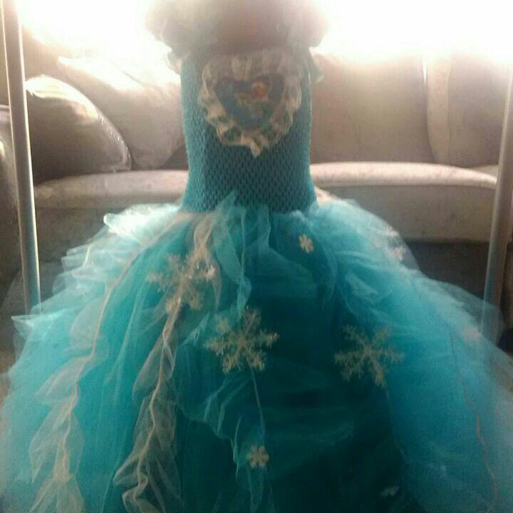 Beautiful handmade frozen elsa princess dress