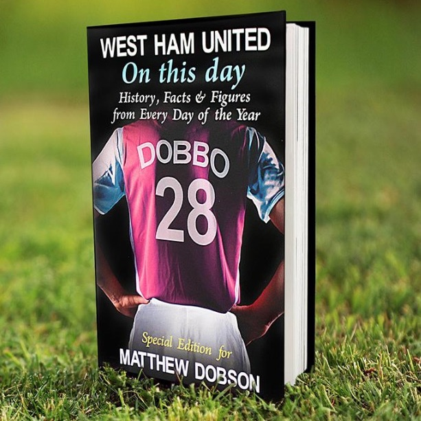 "Personalised ""on this day"" football book"