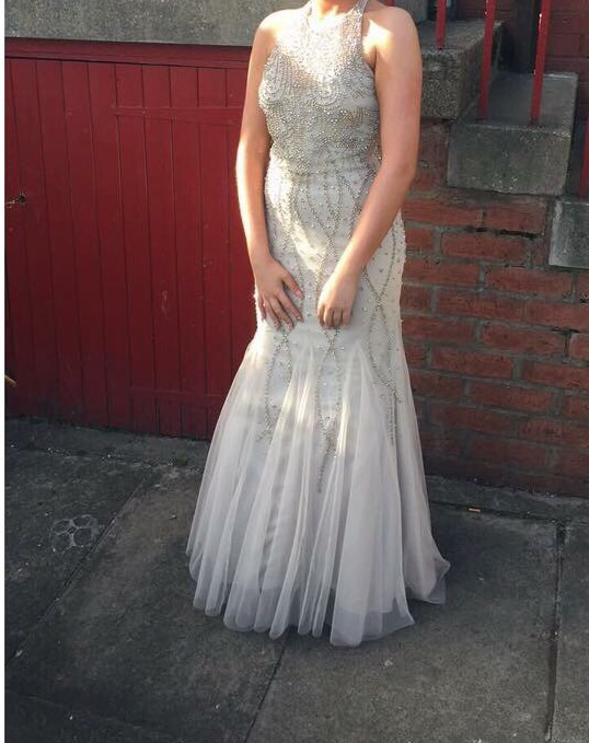 Champagne gold prom dress for sale