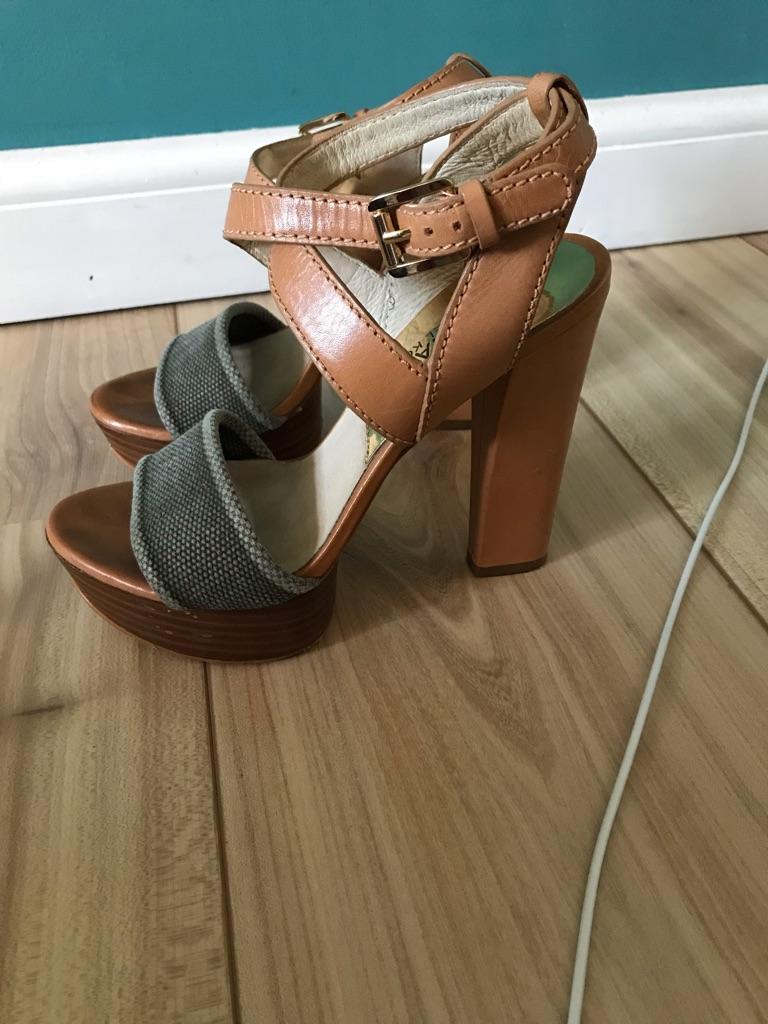 Michael Kors High heel sandals size 3 (small made)
