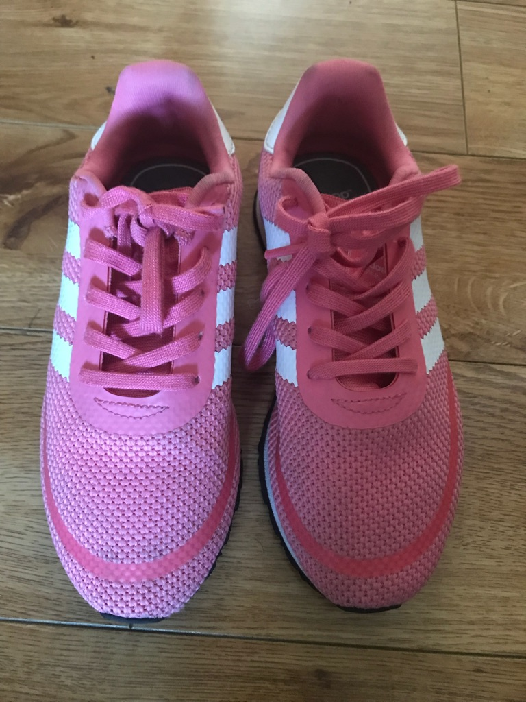 Pink girls Adidas trainers