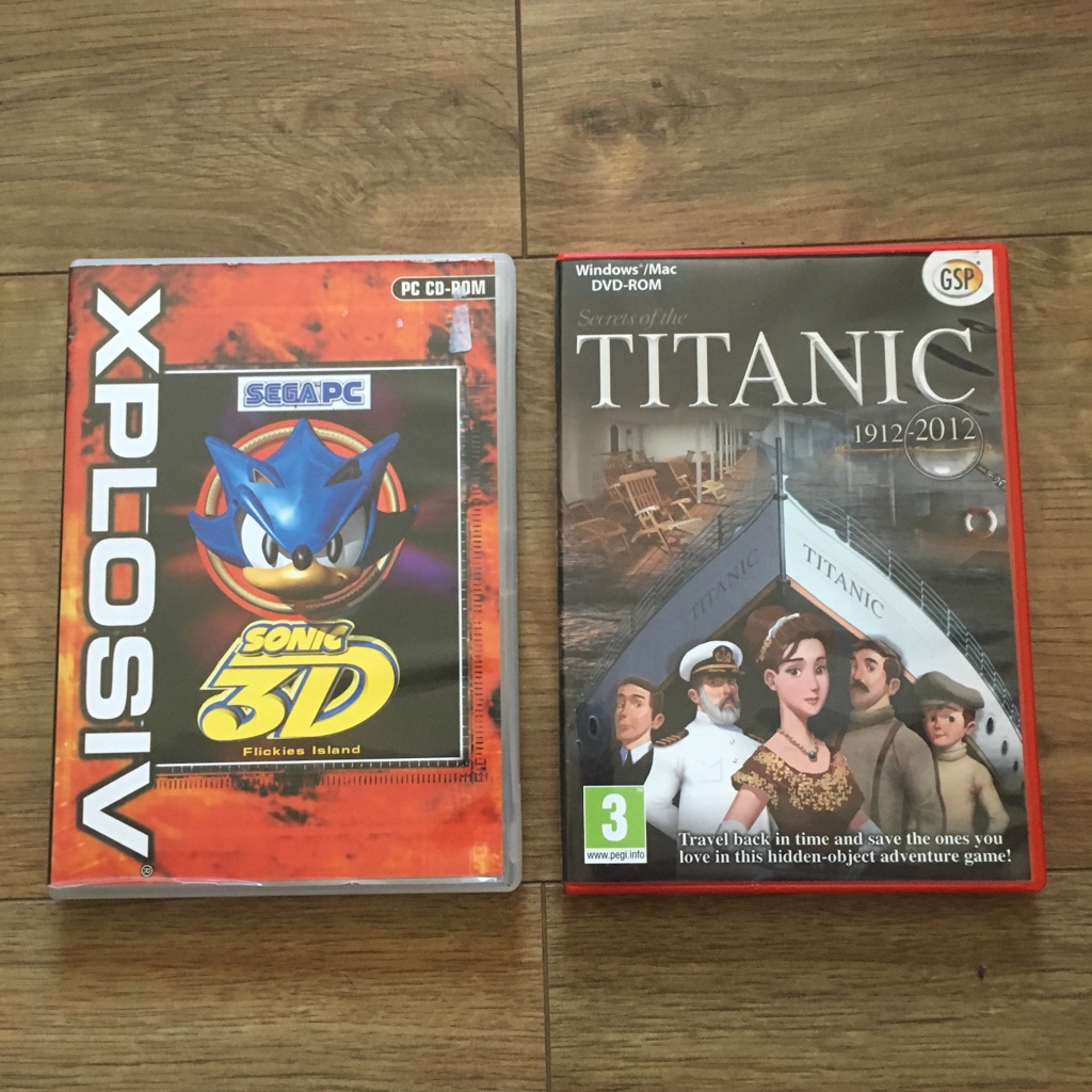 2 PC Games: XPLOSIVE SONIC 3D & TITANIC 1912-2012