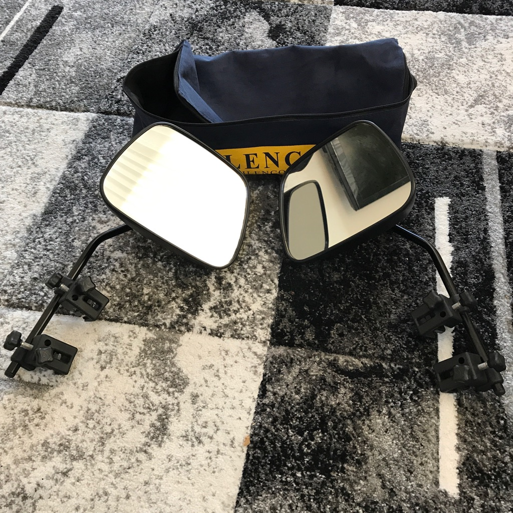 Milenco set of caravan mirrors