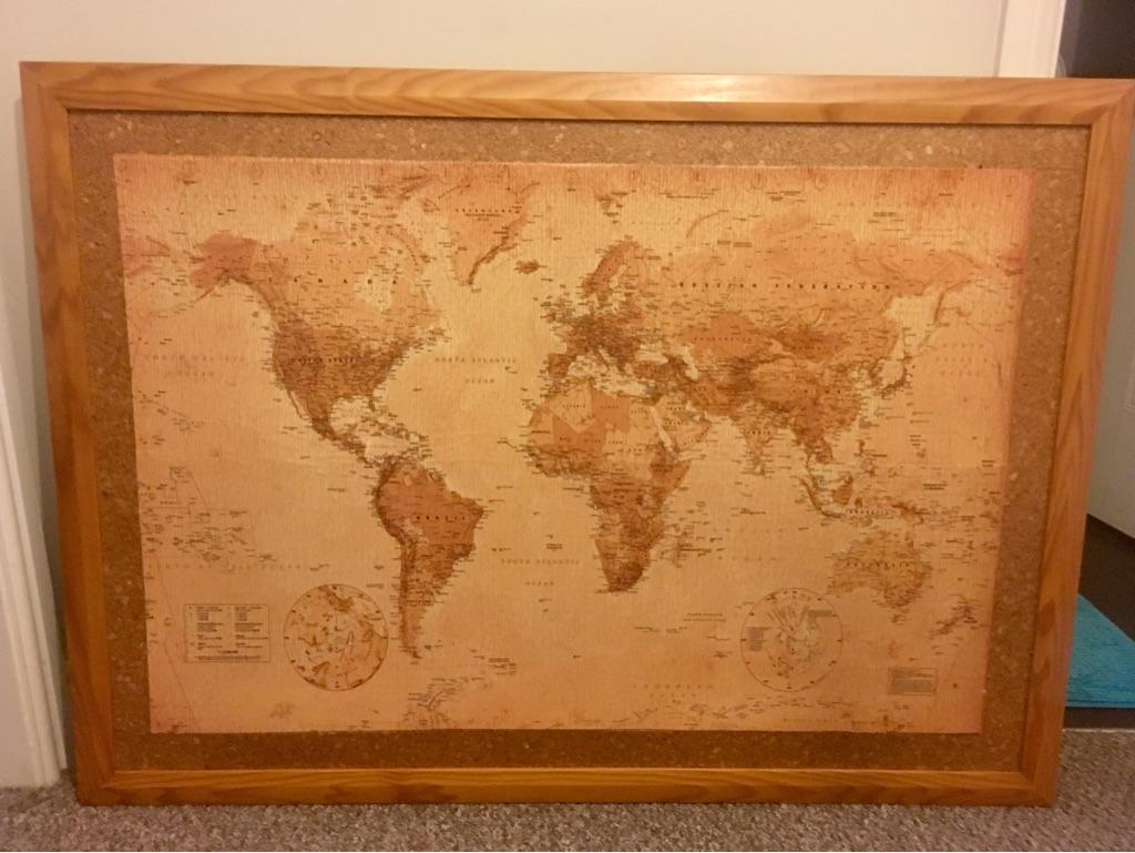 Push pin world map