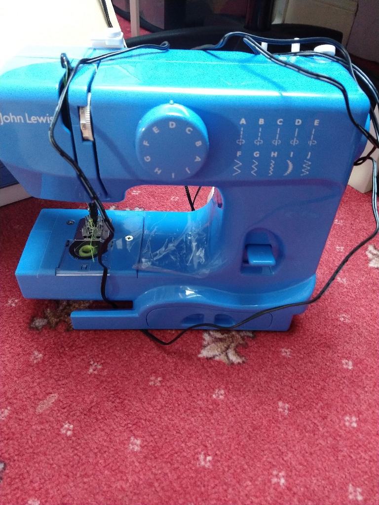 John Lewis Mini Blue Kids Sewing machine. Nearly new